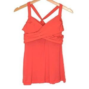 Lululemon Coral Wrap It Up Racerback Tank Top